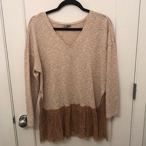 Zara sweater with lace bottom